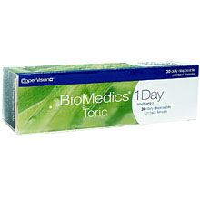 Biomedics 1 Day Toric Contact Lenses, Huge Range of Colour Contact Lenses, Save upto 70% on all major brands, Buy Cheap Contact Lenses Online.