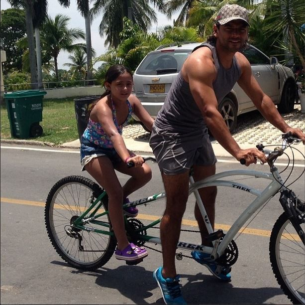 Con mi niña haciendo ejercicio ⚽️