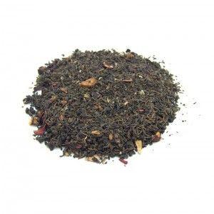 Té rojo cóctel de mora para comenzar el día con mucha energía. Contiene: té rojo Pu erh original de Yunnam, trozos y hojas de mora, fresa, frambuesa, hibisco, escaramujo y pétalos de rosa.
