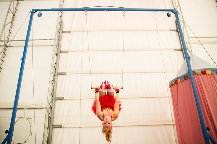 A trapeze artist at the SANCAthon fundraiser for at-risk kids | Picture This | The Seattle Times