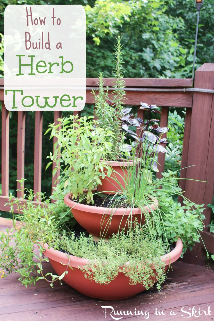 New How to Build a Herb Tower Running in a Skirt