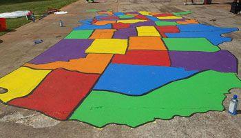 How To Paint U.S. and World Playground Maps   KaBOOM!