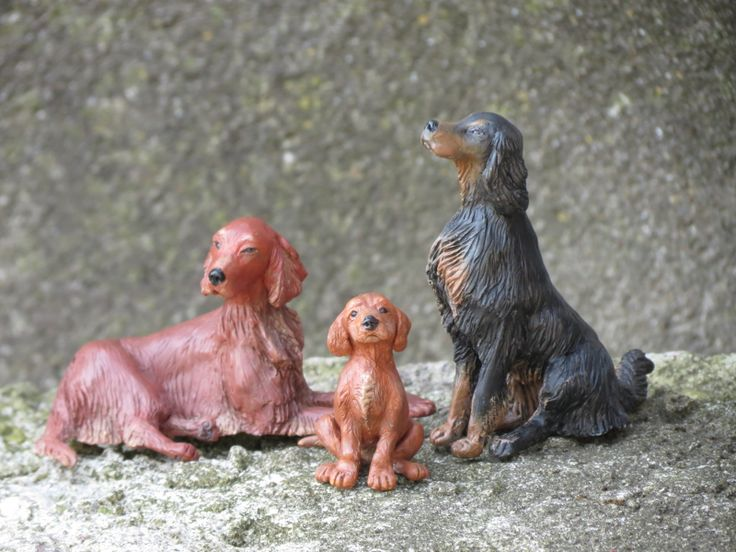 Irish Setters - Art dog OOAK by Joanna Żarska