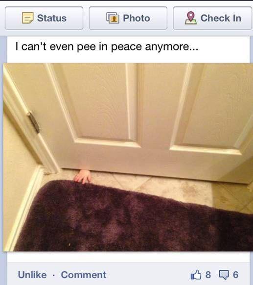 Lol. True story!!Bathroom Doors, Cat Paw, The Doors, Parents, Funny Pictures, Photos Kids, Be A Mom, Children, True Stories