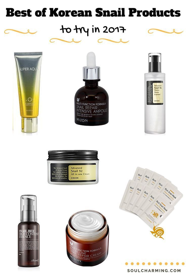 The Best Of Korean Cosmetics Snail Products I M A Sucker For All Sorts Of Korean Beauty Products Wi Korean Cosmetics Simple Korean Skin Care Routine Skin Care