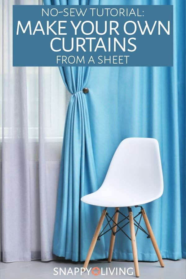 Make Your Own Curtains Out Of Sheets No Sew Tutorial Diy