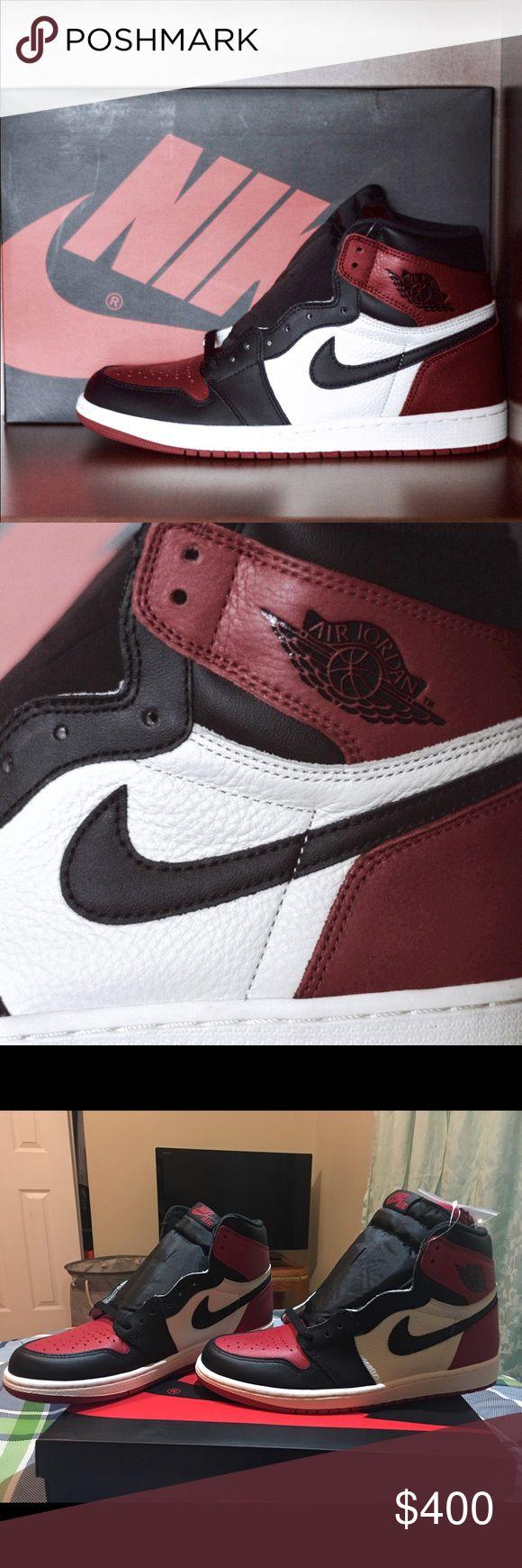 Air Jordan 1 Bred Toe Dead stock & 💯 Authentic! Jordan Shoes Sneakers