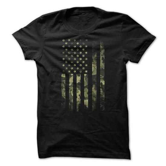 Make this awesome proud Army Veterans: Camo Flag as a great gift Shirts T-Shirts for Army Veterans