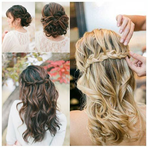 Peinados novia trenzas semirecogido