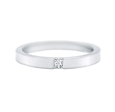 Princess cut marriage rings - Harry Winston
