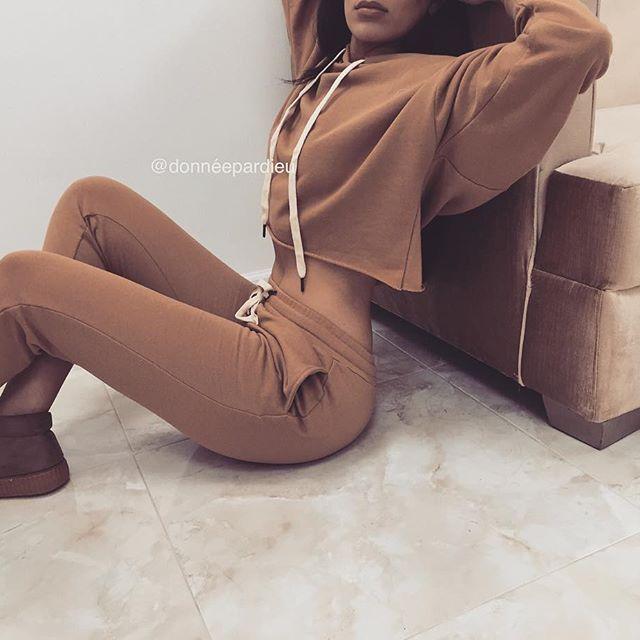 SWEAT SET in Camel  #hoodie #set
