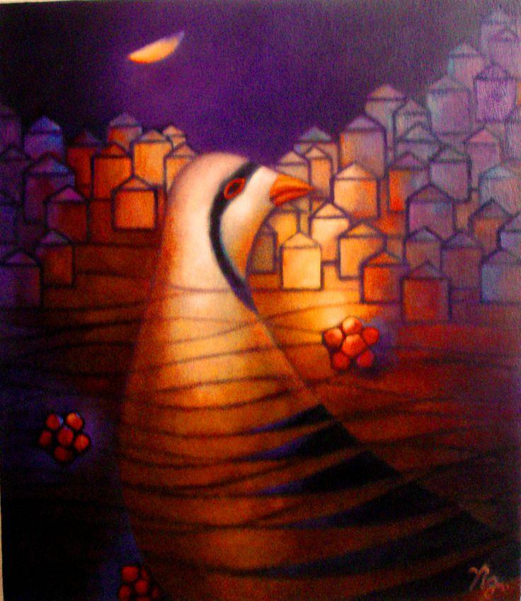 partridge ,,oil on canvas