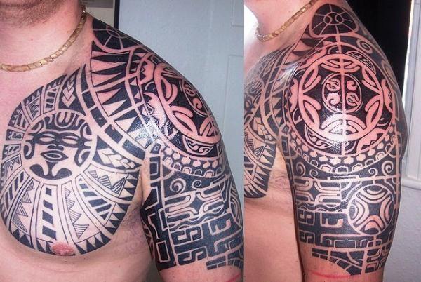 Sophisticated Tribal Shoulder Tattoo Ideas ~ http://tattooeve.com/tribal-arm-tattoo-designs/ Tattoo Design