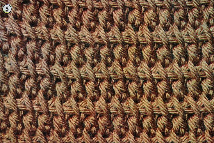 crochet tunisiano                                                                                                                                                                                 Mais