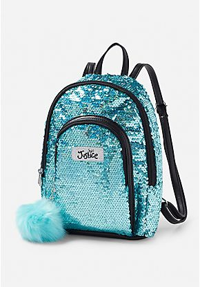 Iridescent Sequin Mini Backpack