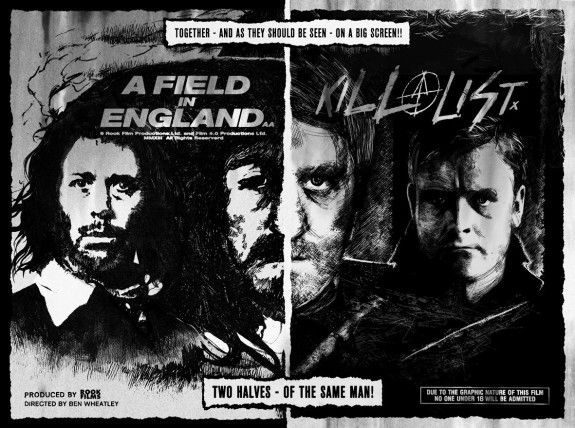 Day 73/365: A field in england-kill list-double bill poster by twins of evil