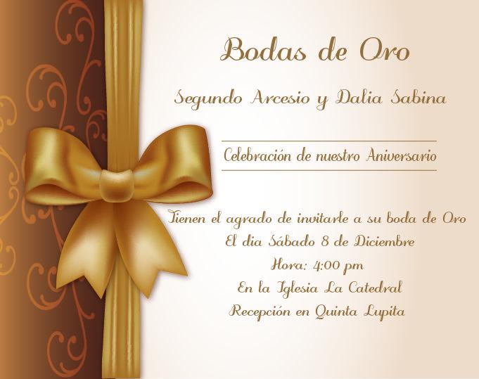 Invitaciones Bodas De Oro Bodas De Oro Invitaciones Bodas De Oro Ideas Invitaciones Aniversario De Bodas