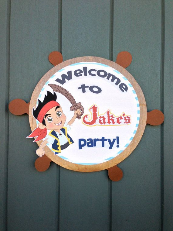 Jake and the Neverland Pirates Birthday Party GiftTags