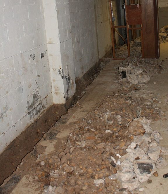 Traditional Basement Waterproofing Systems ... Mess
