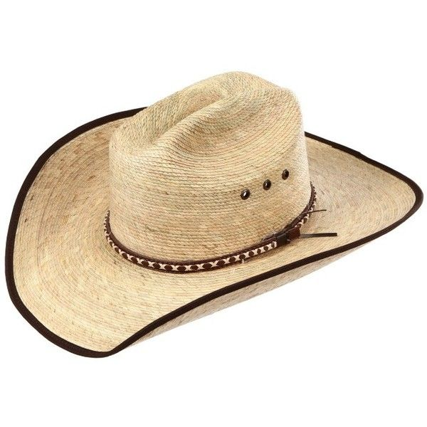 BullHide Wide Open Palm Leaf Straw Cowboy Hats ($30) ❤ liked on Polyvore featuring accessories, hats, palm leaf cowboy hats, palm cowboy hat, western hats, brown cowboy hat and straw cowgirl hats