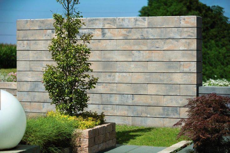 Lineo #Gartenmauer #Betonwerkstein #Mauerstein Mauern Pinterest - mauersteine antik diephaus