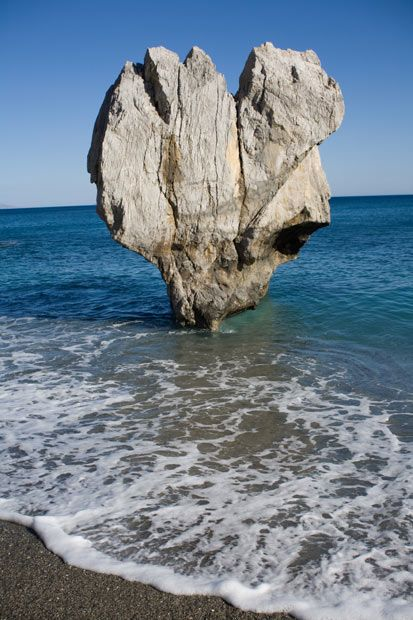 Heart rock. Palm Beach, Preveli at Rethymno.