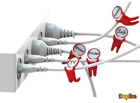 Señalador de cable Muy divertido estos muñequitos organizadores de cables, sobre todo cuando tenés una maraña de cables