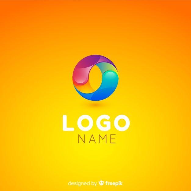Telechargez Modele De Logo De Technologie De Gradient Pour Entreprises Gratuitement In 2020 Vector Free Logo Templates Technology Logo