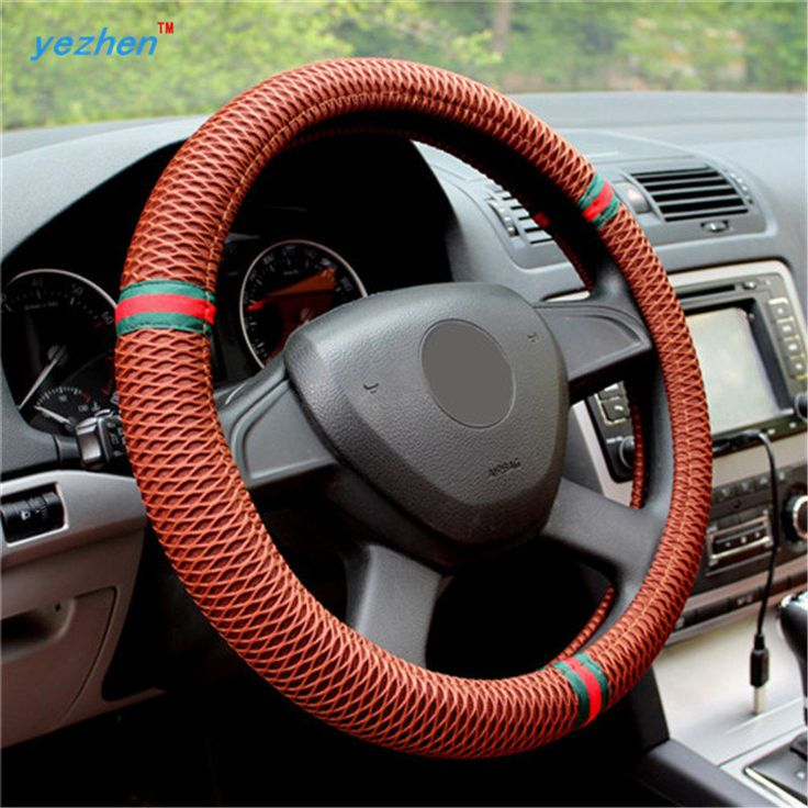 Quality Sandwich Car Steering Wheels Covers Steering Wheel Hubs Car Styling Steering Wheel Fo Car Steering Wheel Cover Car Wheel Alignment Interior Accessories