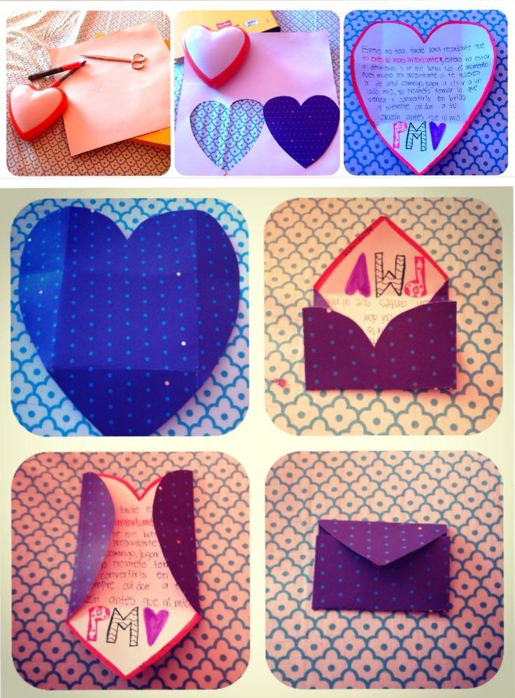 heart#letter#love#boyfriend#cute#idea   ChinoAndPam   Pinterest
