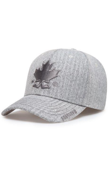 Grew Up Hockey Grey Womens Gongshow Curved Brim Hockey Hat | GONGSHOW Hockey Lifestyle Apparel