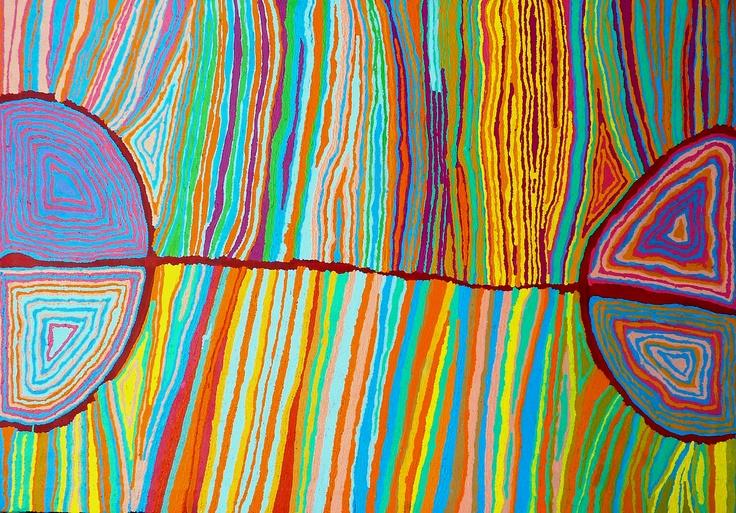Judy Napangardi Watson - Desert Oak Dreaming - 2011 - 183x122cm - IDAIA - International Development for Australian Indigenous Art