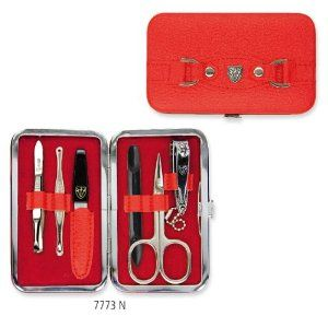 3 Swords - 6 Piece Manicure & Pedicure Kit, made of high quality artificial leather in red, Quality: Made in Solingen/Germany by 3 Swords. $20.40. 6 Piece Manicure & Pedicure Kit, made of high quality artificial leather in red. Quality Standard: Made in Solingen/Germany. Package dimensions: 137 x 92 x 25 mm. Material steel implements: nickel plated shiny. Packing: Delivery in an attractive gift-box. 3 Swords - 6 Piece Manicure & Pedicure Kit, made of high quality ...