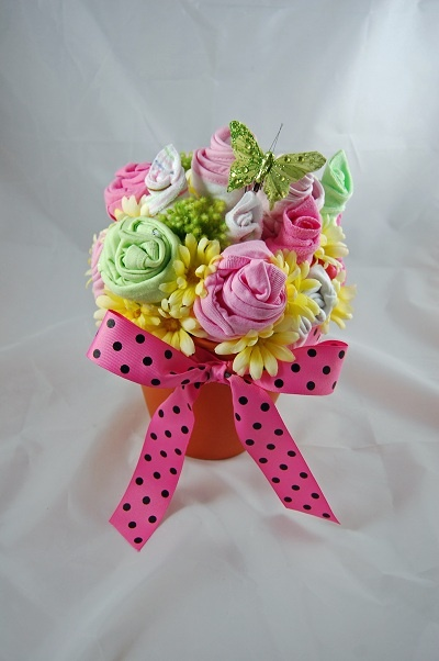 Baby Flower Gift with Onesie Flowers