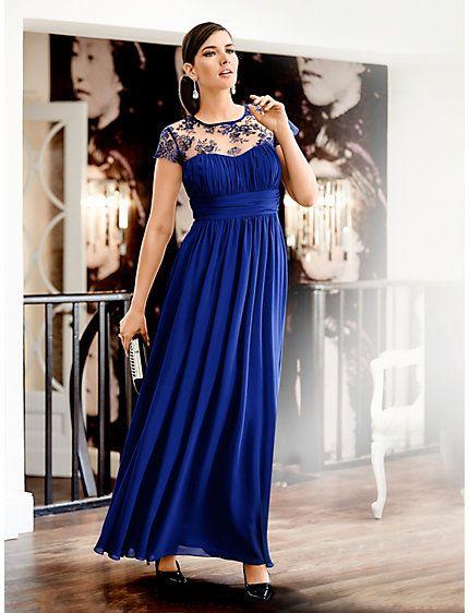 Guido Maria Kretschmer - Abendkleid royalblau #guidomariakretschmerbyheine #plussize #collection
