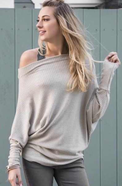Off The Shoulder Batwing Top
