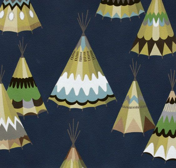 Teepee Fitted Crib Sheet Southwestern Baby Bedding / by Babiease