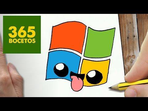 COMO DIBUJAR LOGO WINDOWS KAWAII PASO A PASO - Dibujos kawaii faciles - How to draw a LOGO WINDOWS - YouTube