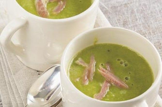 Суп из зелёного горошка