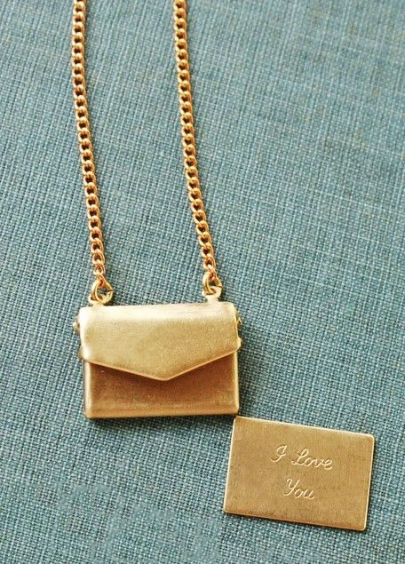 Love Note Necklace - cute gift idea $32