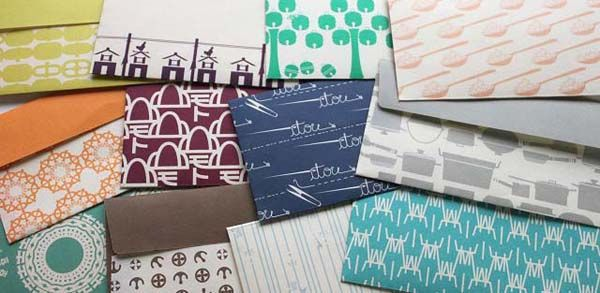 苗字封筒 【桂樹舎】 和紙製品 和紙作り 防水加工和紙   富山の伝統工芸和紙