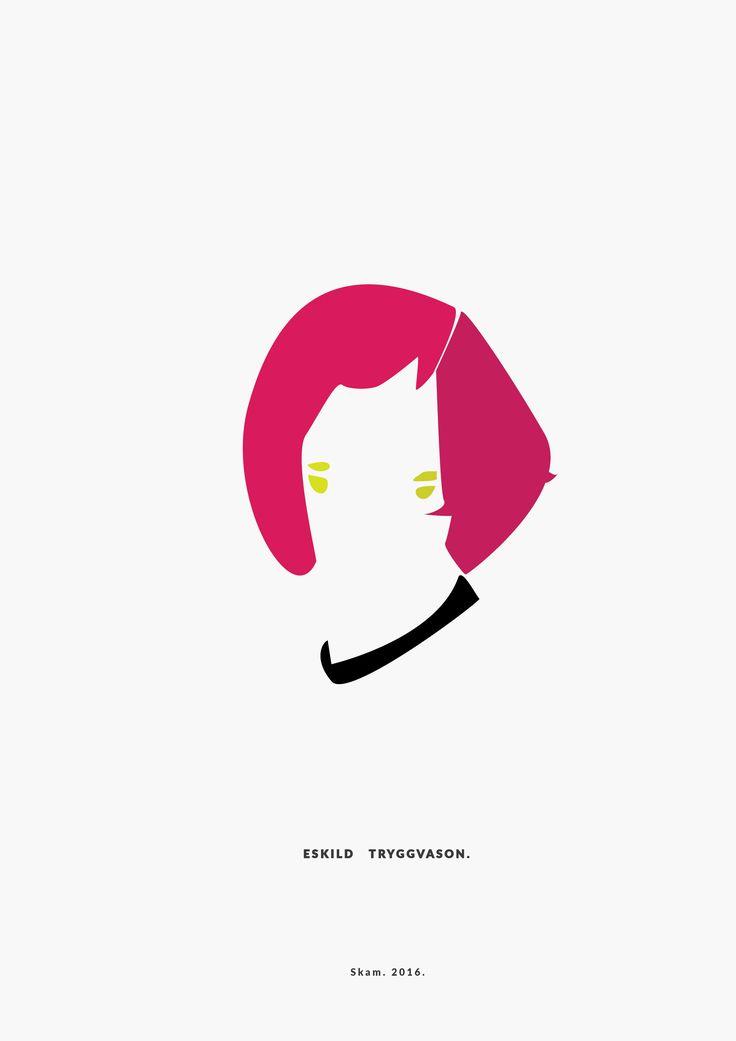 Eskild Tryggvason. /with his wig/ SKAM. 2016. __________minimal project - (Part Thirteen) IG https://www.instagram.com/brbrgraphics/