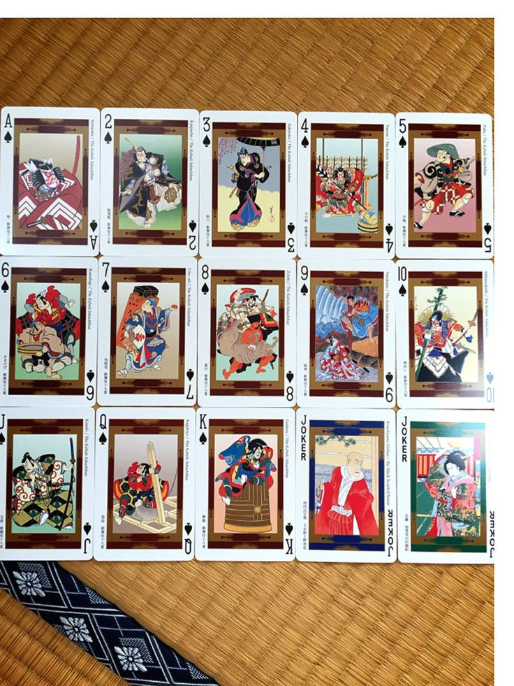 Kabuki playing cards ukiyo-e vintage Kabuki theater The 54 highlight scenes(Etsy のcoeurJaponより) https://www.etsy.com/jp/listing/386281154/kabuki-playing-cards-ukiyo-evintage
