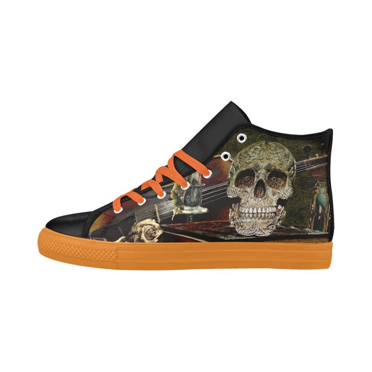 Funny Skull and Book Aquila High Top Action Leather Women