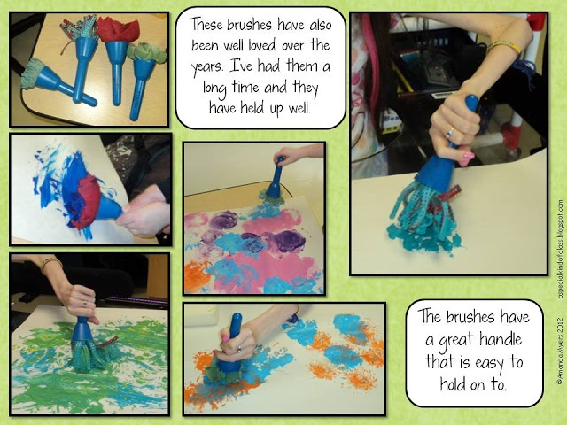 Guest blogger shares her excellent adapted art project tools and ideas for special needs students!