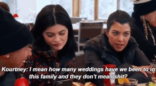 When she heard about Rob and Chyna's engagement. | 21 Savage Kourtney Kardashian Burns We Still Haven't Recovered From
