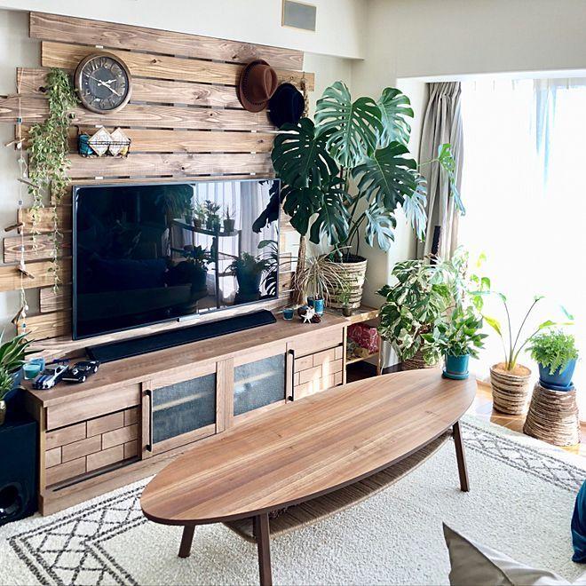 部屋全体 ナフコ21スタイル 植木鉢カバー テレビボード くつろぎ空間 などのインテリア実例 2018 01 01 14 32 25 Roomclip ルームクリップ インテリア カリフォルニア インテリア 部屋