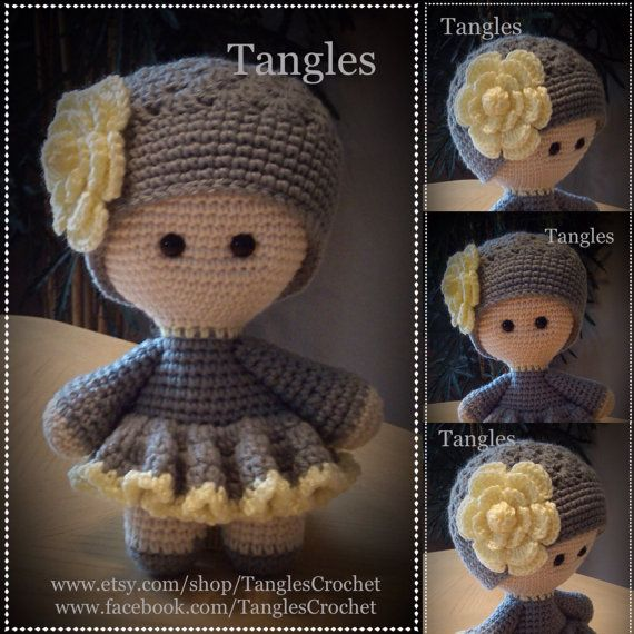 Primavera * muñeca de cabeza grande * amigurumis * muñeca ...