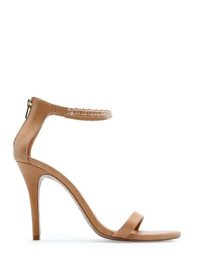 MANGO - TOUCH - Beaded ankle strap sandals.  And i want these