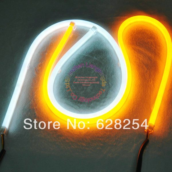 600mm flexible led drl with two color emitting LED daytime running light with free shipping and